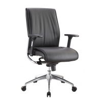 Alto Mid Back Executive Black Leather* Chair