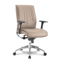 Alto Mid Back Executive Sand Leather* Chair
