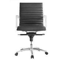 Zetti Mid Back Executive Black Leather* Chair