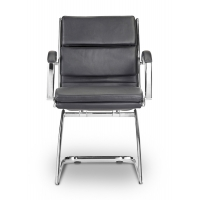 Livello Guest Chair Black Leather*