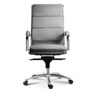Livello High Back Executive Grey Leather* Chair
