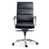 Livello High Back Executive Black Leather* Chair