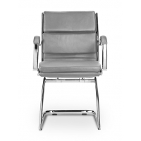 Livello Guest Chair Grey Leather*