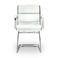 Livello Guest Chair White Leather*