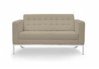Piazza Sand Leather* Love Seat