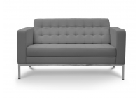Piazza Grey Leather* Love Seat