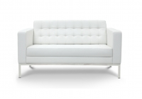 Piazza White Leather* Love Seat
