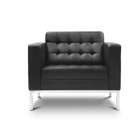 Piazza Black Leather* Lounge Chair