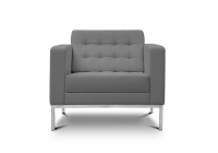 Piazza Grey Leather* Lounge Chair