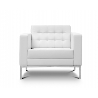 Piazza White Leather* Lounge Chair
