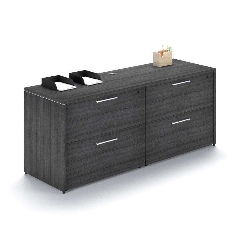 Credenza With 4 Drawer Lateral File