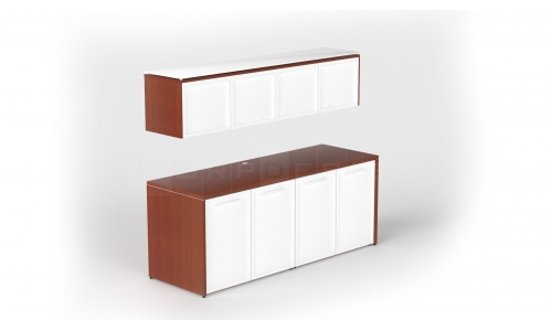 Double credenza with glass doors