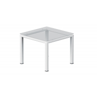 End table – Clear glass top