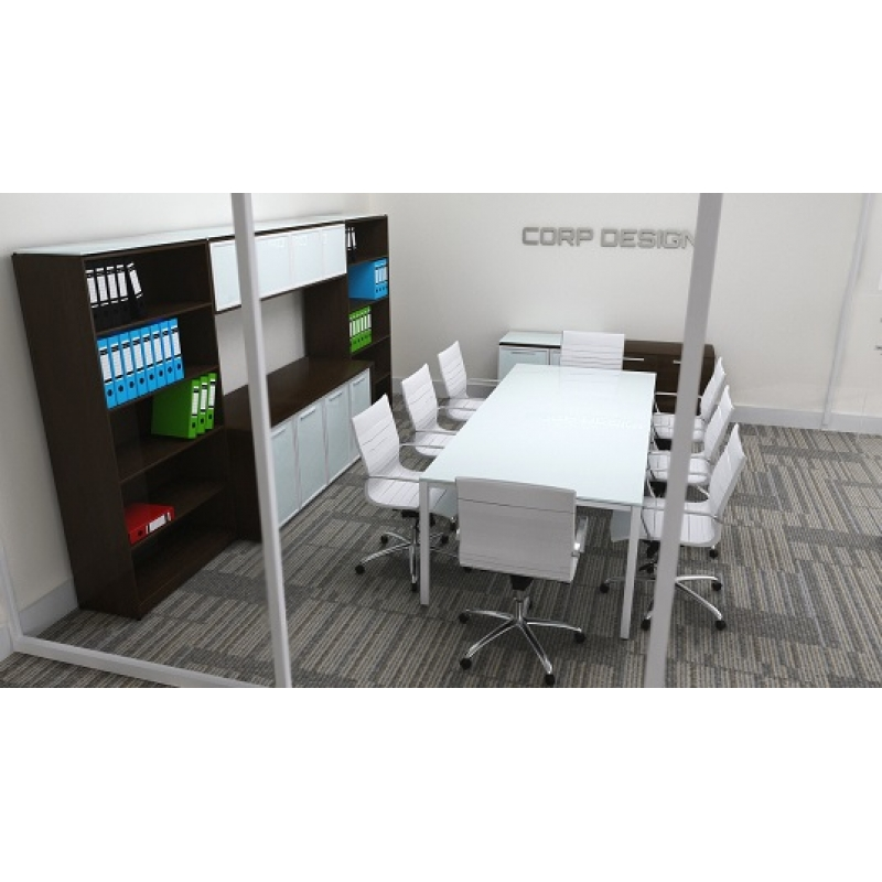 Sling Series Rectangular Glass Conference Table