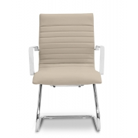 Zetti Visitor Sand Leather* Chair