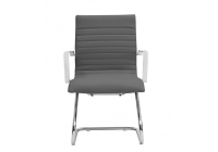 Zetti Visitor Grey Leather* Chair