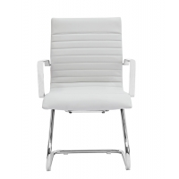 Zetti Visitor White Leather* Chair