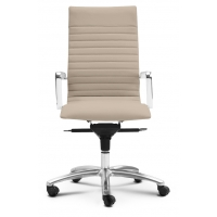 Zetti High Back Executive Sand Leather* Chair