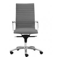 Zetti High Back Executive Grey Leather* Chair