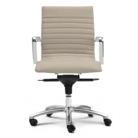 Zetti Mid Back Executive Sand Leather* Chair