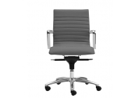 Zetti Mid Back Executive Grey Leather* Chair